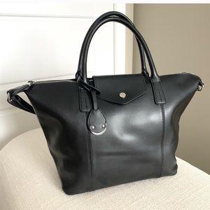 Emma and Sophia Leather Tote Bag Crossbody